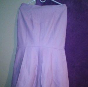 Leather look pink mermaid skirt